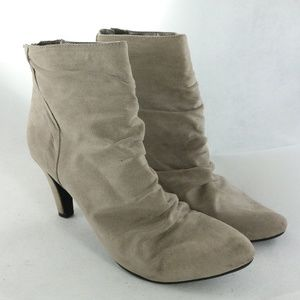 RIALTO Pleated Fabric Ankle Bootie